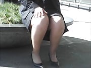 Pantyhose Legs On Smoking Break