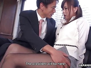 Japanese office lady, Aihara Miho got blackmailed and fucked