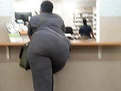 Big juicy donk tossed to one side.