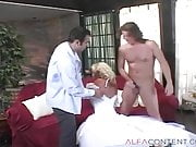Pretty Blonde Gets All Three Holes Exploited