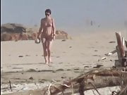 Nude walking on beach