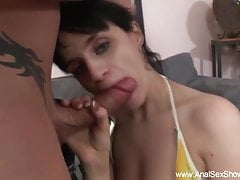 Exotic Brunette Gets Her Butt Pounded