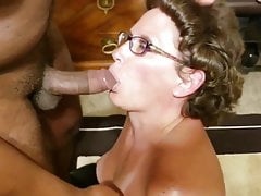 Mature Fucks younger guy raw for creampie