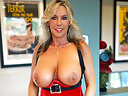 MILF With Huge Tits Sucks Cock and Swallows Yuletide Jizz
