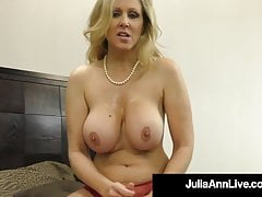 Hot Busty Milf Julia Ann Milks A Hard Cock In Her Mouth!