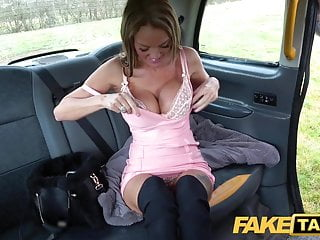 Fake Taxi Busty Welsh Milf Stacy Saran wanks and fucks on ta
