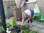 BC&FB Buttercup Topless Gardening D Watering the Plants