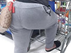 Cougar hiding that Phat Donkey in the store