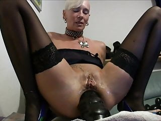 German mature with big toys