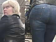 This foreign mature has jeans that compliment her big butt