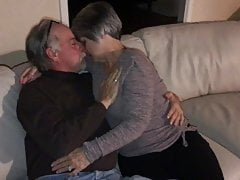 Mature hot gilf wife kisses neighbor