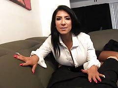 Handjob pulled stroked and jerked with Milf Raven Hart