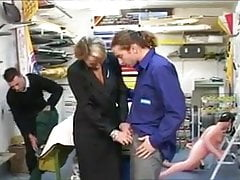 French woman Boss with Two Employs