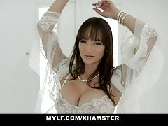 MYLF - Perfect Big Tits Milf Gags On a Big Dick Stud