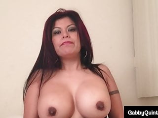 Mexican Milf Gaby Quinteros Fucks Her Spicy Snatch & Cums!