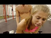 Hard sex in the gym with sweet blonde teen Carolina