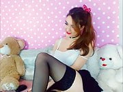 Teddy Bear Hugging Teen Most Naughty Honey Rubbing