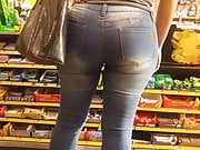 Big latina butt in jeans