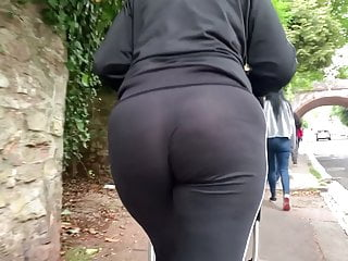Big ass MILF walking around town