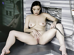 MYLF - Natural Milf Beauty Makes Herself Squirt In The Showe