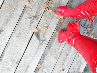 Lady L red sexy boots.