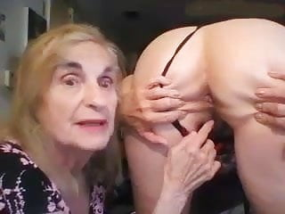 Granny Patty works out her girlfriends anal hole