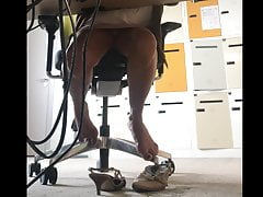 ULTIMATE Upskirt panties under desk office 02 - MILF