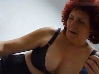Blue vibrator always saves granny Hertha 68 from loneliness